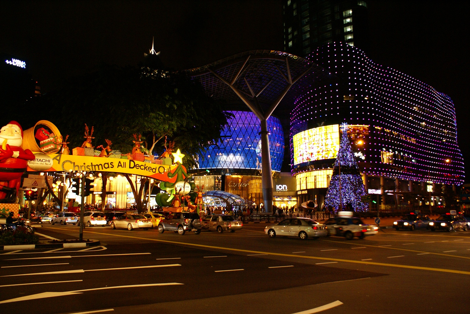 Ion Orchard, above Singapore's Orchard MRT