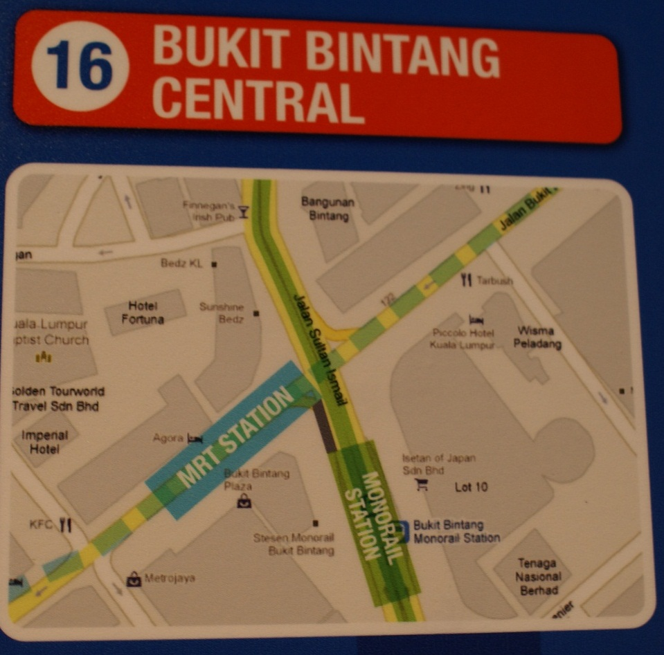 Bukit Bintang MRT and Monorail Stations connected together